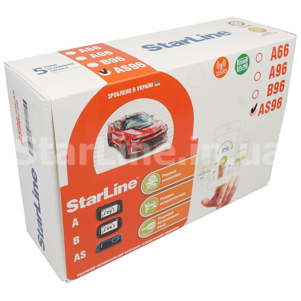 StarLine AS96 BT 2CAN+2LIN GSM