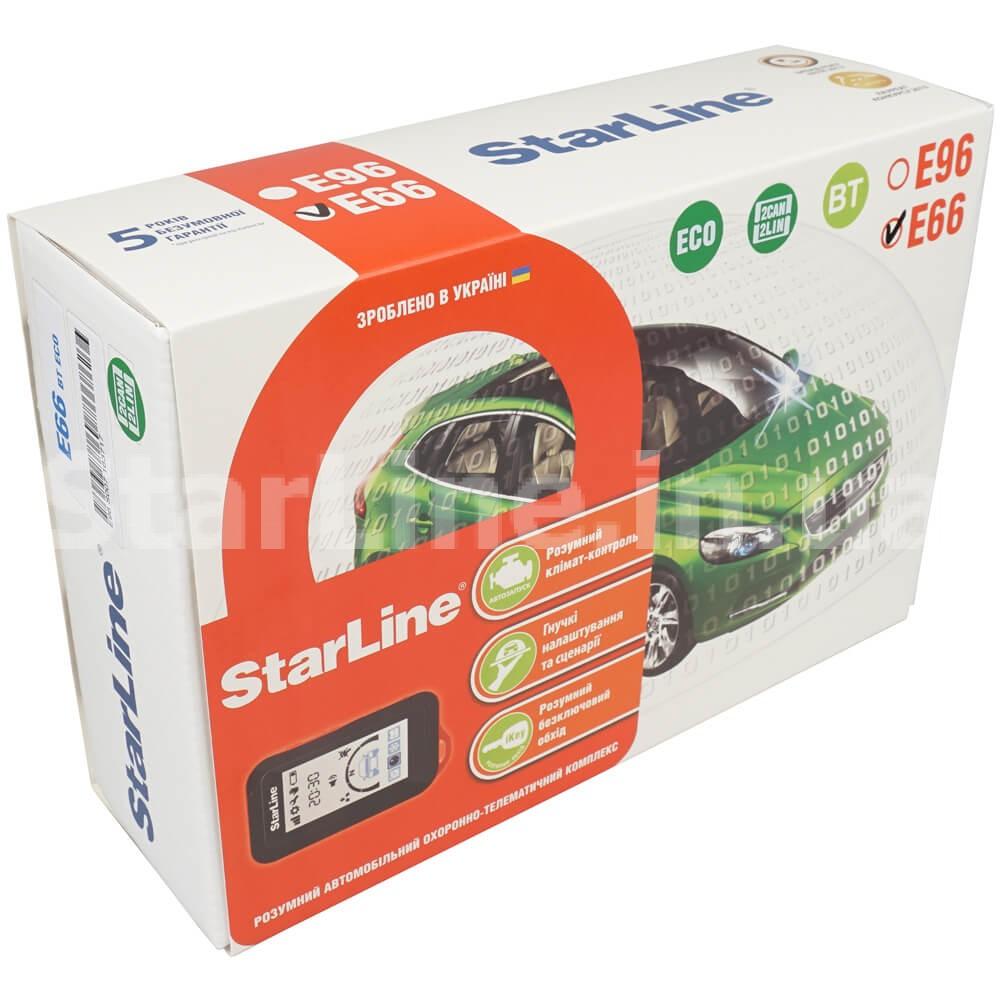 StarLine E66 BT 2CAN+2LIN ECO